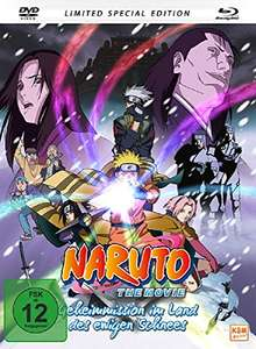 Naruto - The Movie: Geheimmission im Land des ewigen Schnees! Limited Mediabook Edition (Blu-ray + DVD) für 9€ (Amazon Prime & Media Markt)