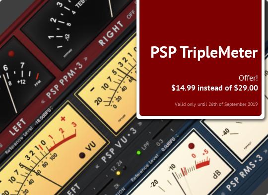 [Audio Plug-In] PSP TripleMeter (VU, RMS, PPM) $14,99 statt $29