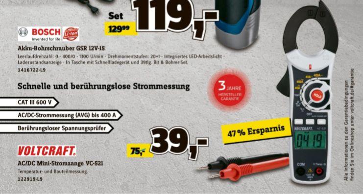 [Conrad ab 25.09] VOLTCRAFT VC-521 Stromzange digital CAT III 600V Anzeige (Counts): 4000 für 39,-€