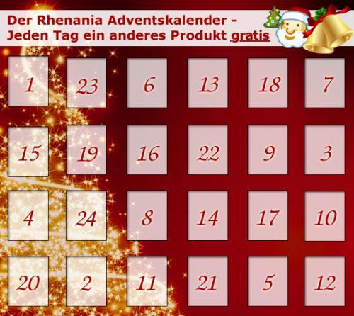 Rhenania-Buchversand Adventskalender - jeden Tag ein Artikel gratis + 4,95 EUR VSK