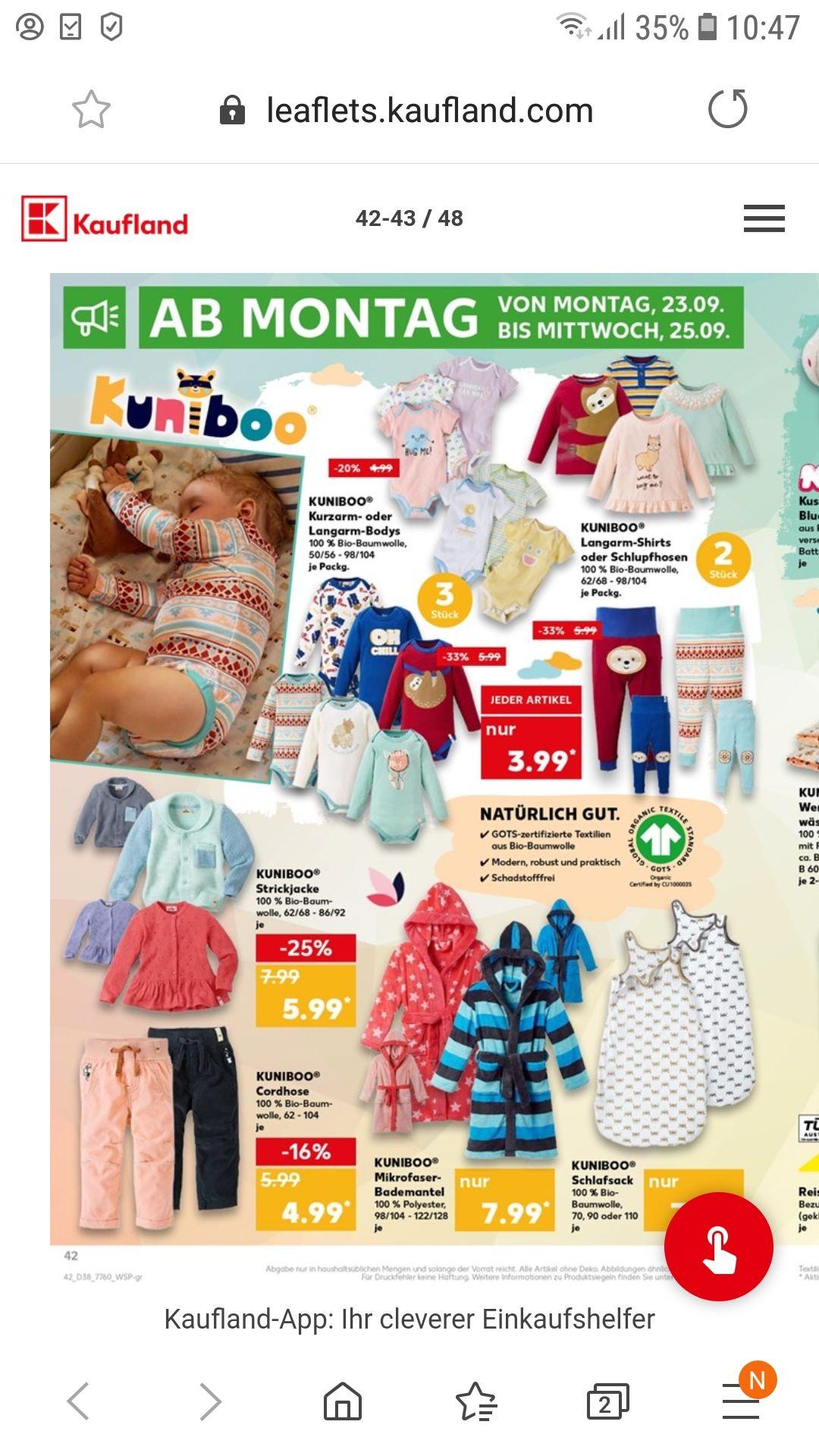 Kaufland Baby kleidung 3.99 €