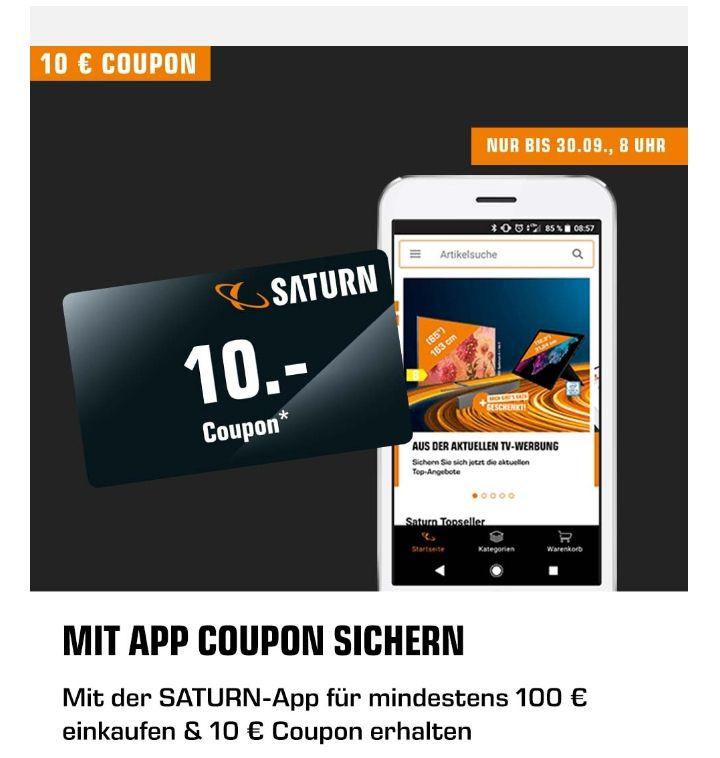 [Saturn.de App] ab 100 Euro Bestellwert einen 10 Euro Coupon erhalten