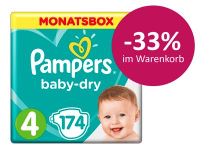 33% Rabatt auf Pampers Baby Dry + Pants bei [windeln.de]