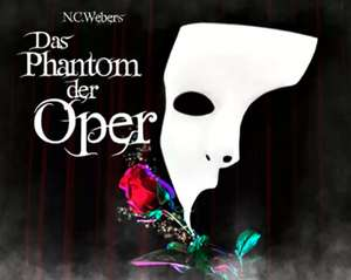 2 Karten für das Musical 'Phantom der Oper' z.B. in München am 16.2.2020