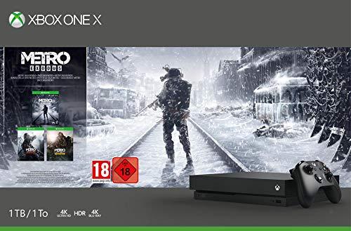Microsoft Xbox One X, schwarz - Metro Exodus Bundle [Amazon]