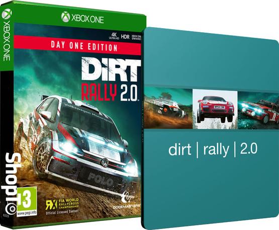 DiRT Rally 2.0 Day One Edition mit Steelbook (PS4 & Xbox One) für 21,30€ (Shopto)