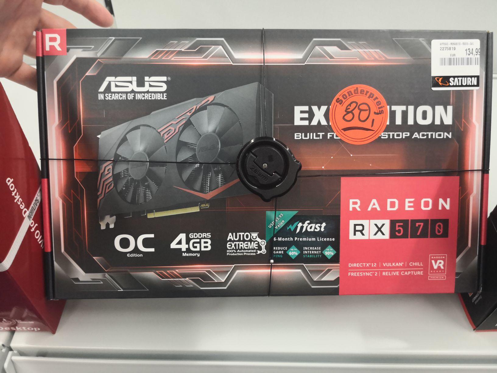 [Lokal MS] ASUS Radeon RX570 OC 4GB (Nur 1 Stück verfügbar)