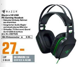 [Saturn] Razer - Electra v2 USB Gaming & Music Headset für 27,-€ / RAZER Basilisk Gaming Maus, kabelgebunden für 39,-€