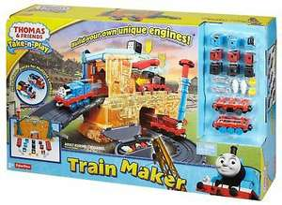 Thomas die Lokomotive & seine Freunde Eisenbahn-Fabrik Spielzeug-Set Take-n-Play von Fisher Price [Prime]