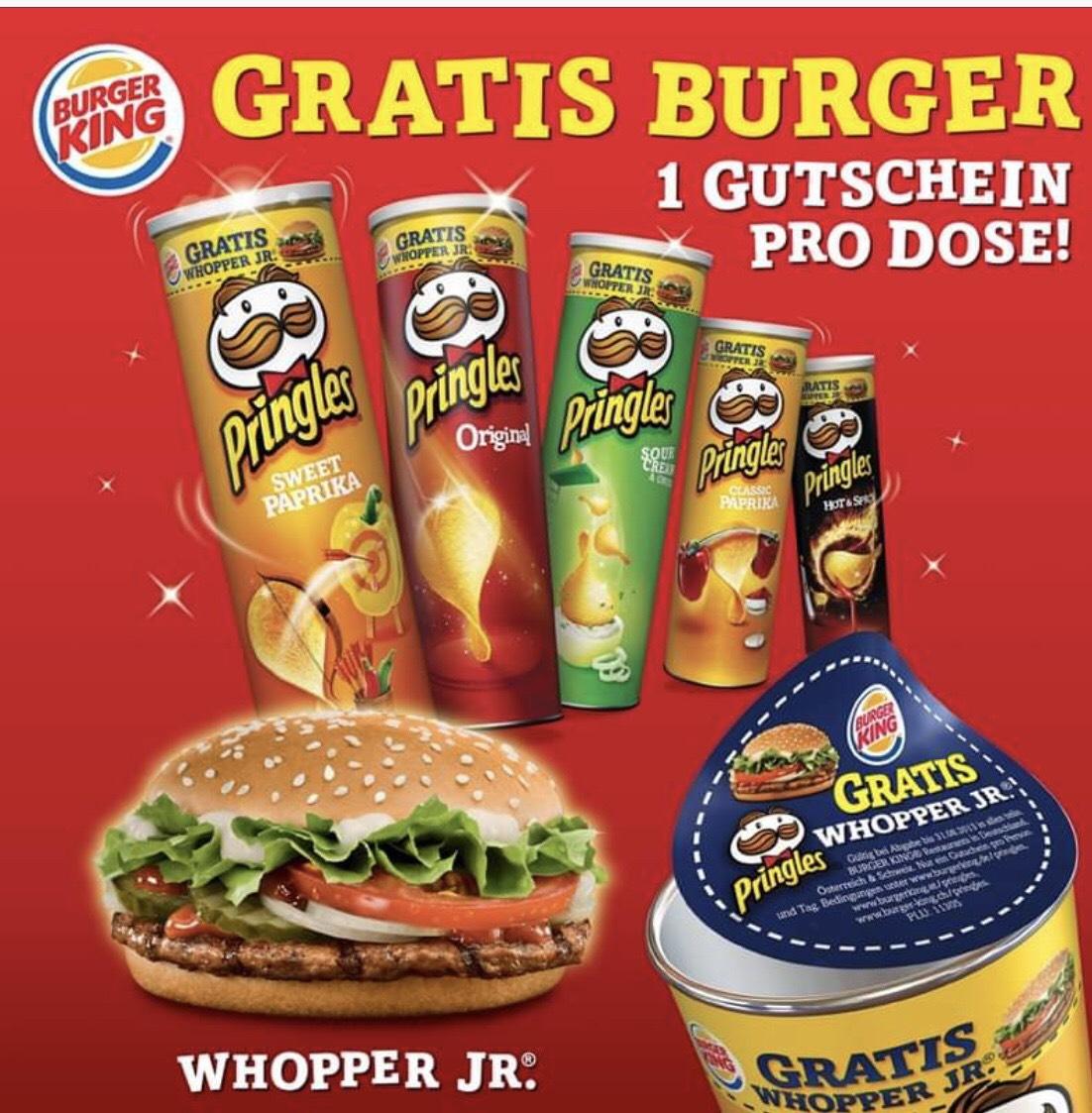 Burger King Pringles Aktion Whopper Jr. Gratis