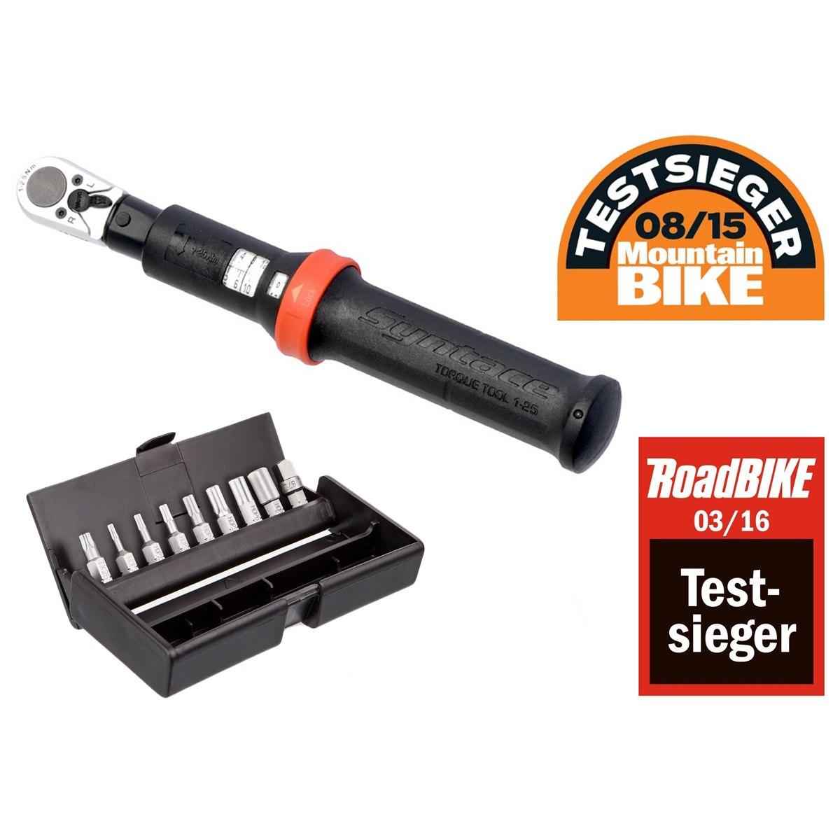 Syntace Torque Tool 1-25 Nm Drehmomentschlüssel - Testsieger-Set