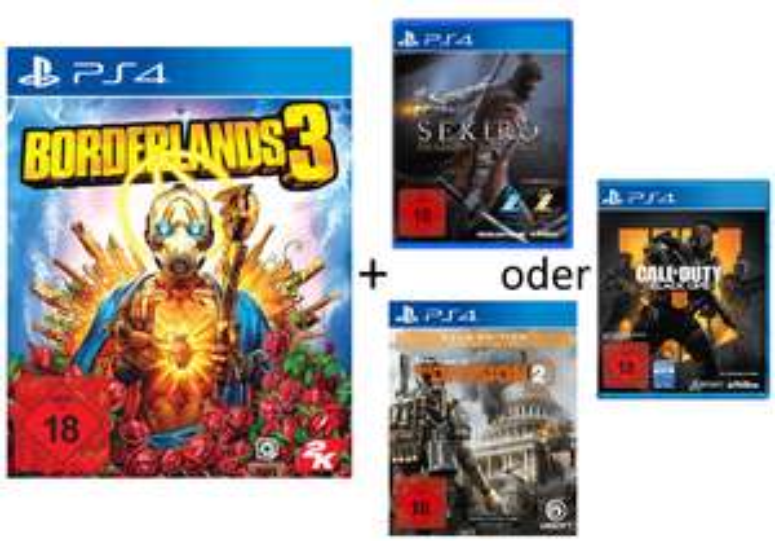 GDD Gaming: z.B. Borderlands 3 [PS4] + 1 von 3 Spielen für 57€ (Sekiro: Shadows Die Twice, The Division 2 Gold, Call of Duty: Black Ops 4)