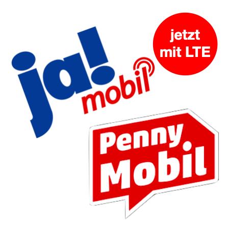 [Telekom-Netz] Penny & Ja! Mobil Prepaid mit LTE 25: z.B. 2GB LTE + Allnet- & SMS-Flat für 7,99€ / 4 Wochen + 10GB LTE Aktion bis 30.09.