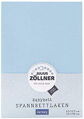 [Amazon Plus Produkt/Prime]Julius Zöllner  Spannbetttuch Jersey für das Kinderbett, Größe: 60x120 / 70x140 cm