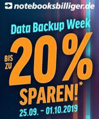 Data Backup Week bei NBB: Produkte von APC, AVM, Crucial, Intenso, Kingston, QNAP, SanDisk, Synology, Western Digital & Zyxel