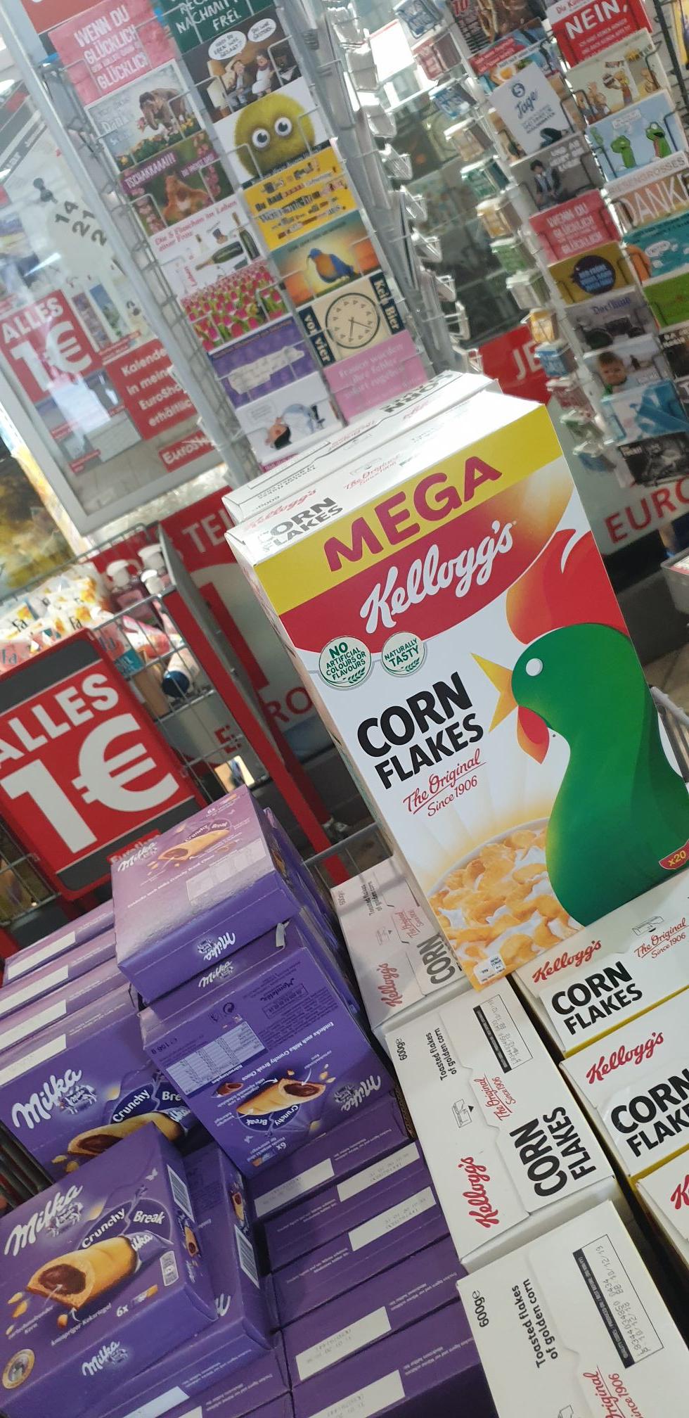 Euroshop: Kellogg's Cornflakes 600g und div. Milka
