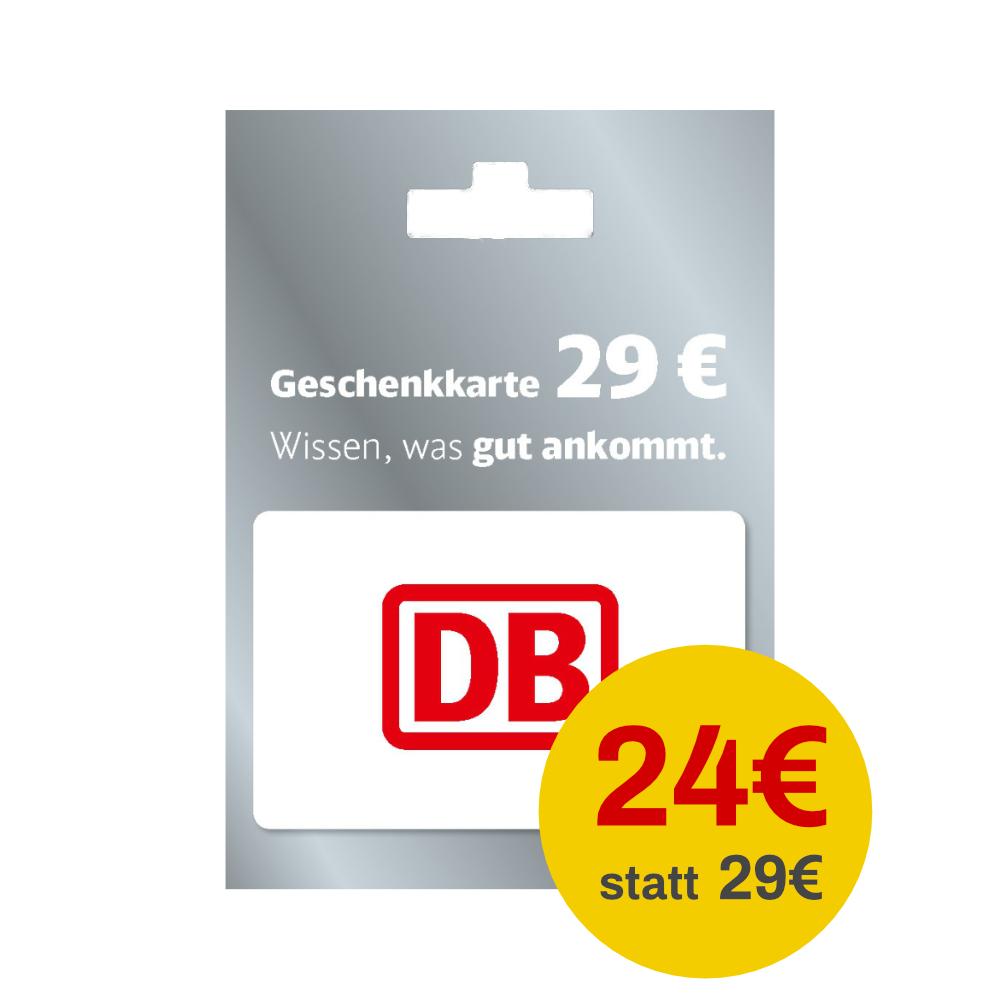 [Netto MD] Deutsche Bahn 29€ Geschenkkarte für 24€