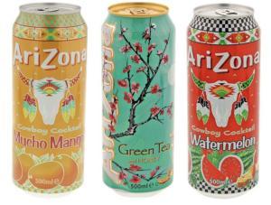 Arizona Eistee 500ml für je 0,65€ (Grüner Eistee, Muchow Mango, Cowboy Cocktail Wassermelone) [Action]