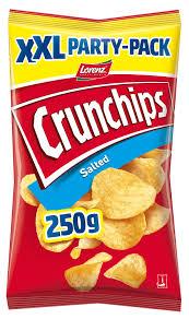 Crunchips Salted oder Paprika,  250g XXL-Packung für 99 Cent [Jawoll]