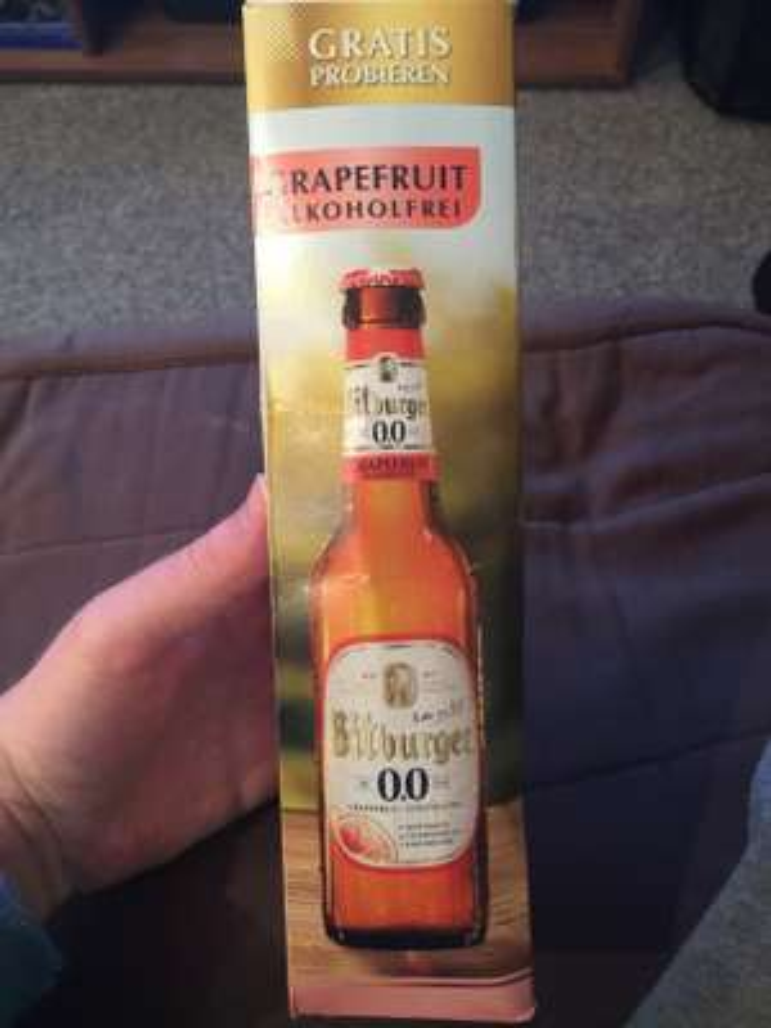 (Lokal) Kaufland Eriskirch Gratis Flaschen Bitburger Alkoholfrei Grapefruit