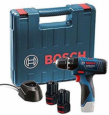 Bosch Professional GSB 120-LI 12 V Akku-Bohrschrauber inkl. 2 x 1,5 Ah Akkus, Ladegerät und Koffer