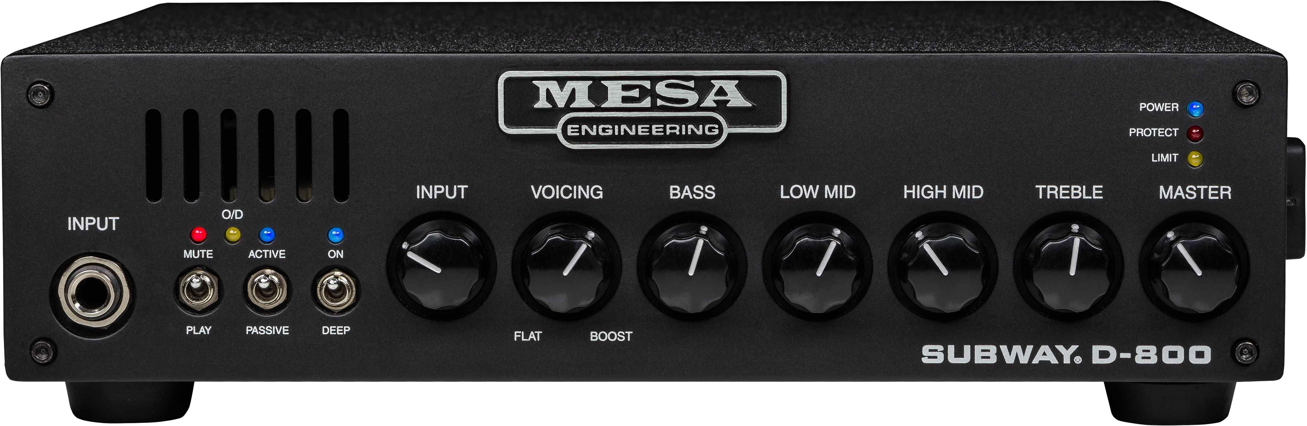 Mesa Boogie Subway D-800: Bass-Topteil (800W/2-4Ω, 400W/8Ω, 4-Band EQ, Deep Switch, Voicing Regler)
