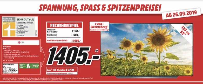 [Lokal] MediaMarkt Neuwied und Koblenz - LG OLED55C97