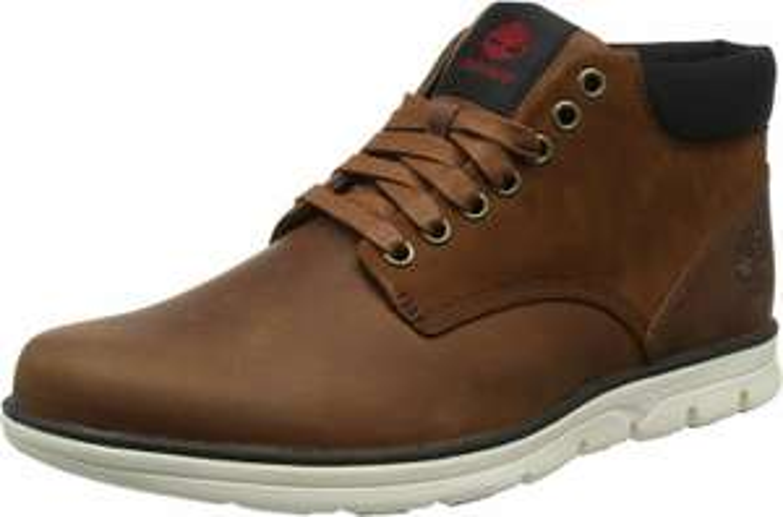 Timberland Herren-Schuhe Bradstreet Leather Sensorflex Chukka Boots, Red Brown FG, Größen von 39,5 - 50
