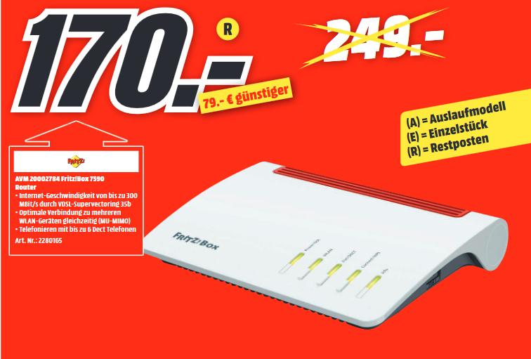 [Lokal: MM Limburg] AVM FRITZ!Box 7590 - WLAN Mesh Router mit VDSL-Anschluss (Supervectoring 35b) | Link's Awakening (Switch) für 45€
