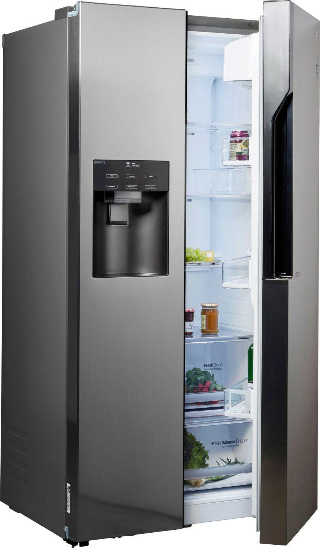 LG GSL561PZUV Side-by-Side Kühlschrank 591 Liter mit Wasser- und Eisspender, No-Frost, Temperaturanzeige, A+ [computeruniverse@eBay]