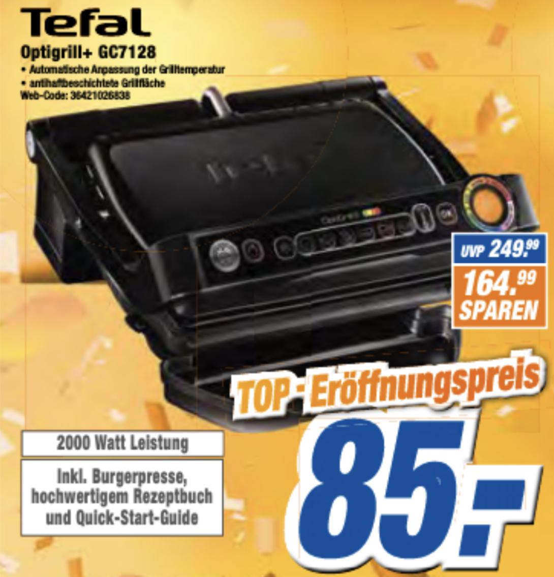 Expert Megaland: Tefal Optigrill+ GC7128 inkl. Burgerpresse für 85€