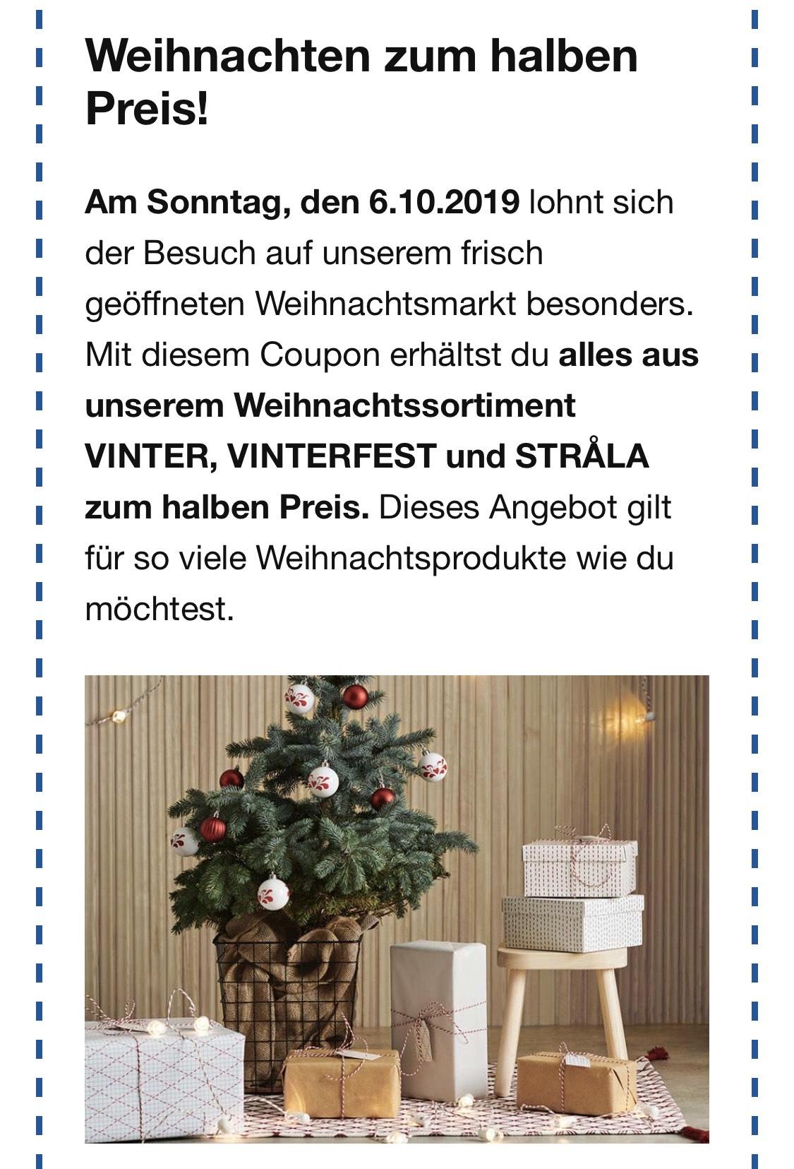 [Lokal Berlin-Spandau / Waltersdorf] IKEA Weihnachtsartikel zum halben Preis am 6. Oktober