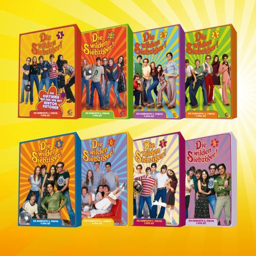 Die wilden Siebziger! Staffel 1-8 auf 32 DVDs für 49,90€