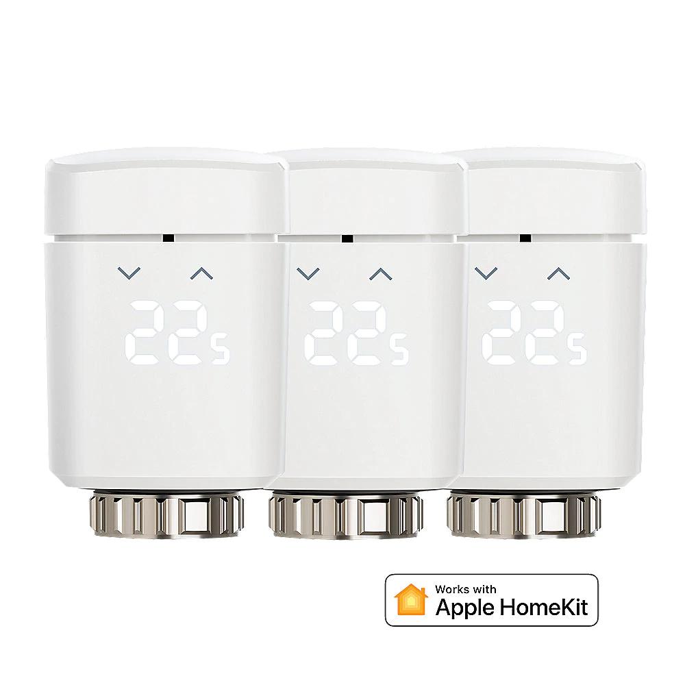 Eve Thermo Funk-Heizkörperthermostate rev.2 - 3er Pack Apple HomeKit für 94,90€ bzw. 84,90€ mit amazon pay (Stückpreis 31,63€ bzw. 28,30€)