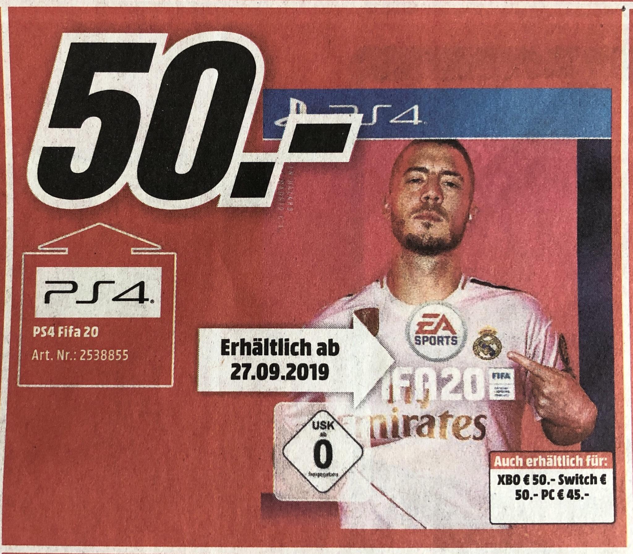 Fifa 20 für PS4, Xbox & Switch bei Media Markt Limburg [lokal]