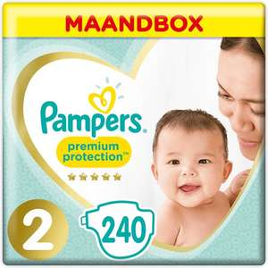 (bol.com Deal zzgl. Fracht) Pampers Premium Protection New Baby Gr. 2 Mini (4-8 kg) 240St.