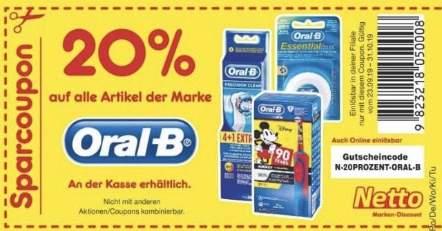 [Netto] 20% Rabatt auf Oral B