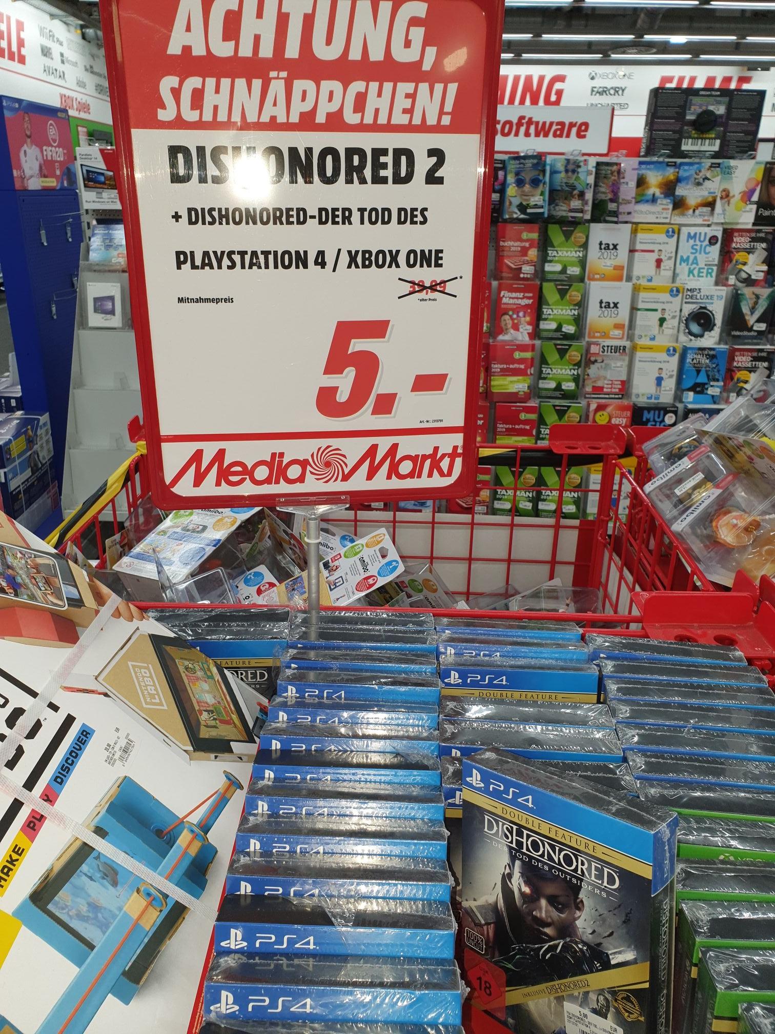 Dishonored Double Feature PS4/Xbox One (Lokal Media Markt Köln Kalk Arcaden)