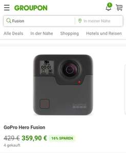 Groupon: GoPro Fusion 360° Actioncam