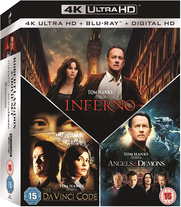 Inferno + Illuminati + The Da Vinci Code (4K Blu-ray + Blu-ray) für 32,38€ (Amazon UK)
