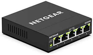 Netgear GS305E 5 Port LAN Gigabit Ethernet Switch (Smart Managed Plus Netzwerk-Switch, lüfterlos, Plug-und-Play,)[Amazon Prime]