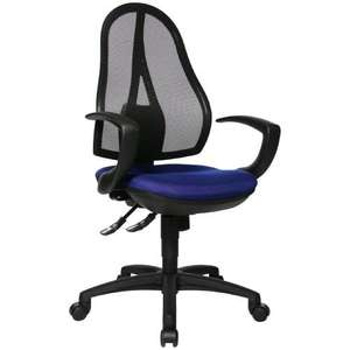 Topstar OP20QG26 Bürodrehstuhl Open Point SY inkl. Armlehnen / schwarz, blau, rot, lila, braun