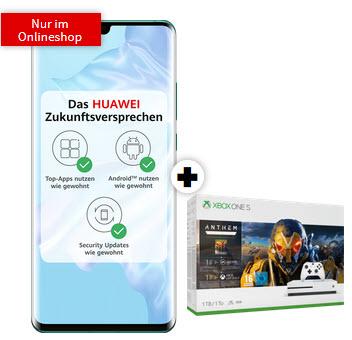 Huawei P30 Pro und Xbox One S 1TB (Anthem, The Division 2) im Debitel Telekom Magenta Mobil S (6GB LTE 5G, StreamOn Music) mtl. 29,95€