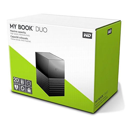 "WD My Book Duo 20TB, USB-C 3.0 Speichersystem (3,5"", 2x 10TB WD RED WD100EFRX , 256bit AES) | 12TB mit 2x WD60EFRX für 310€"