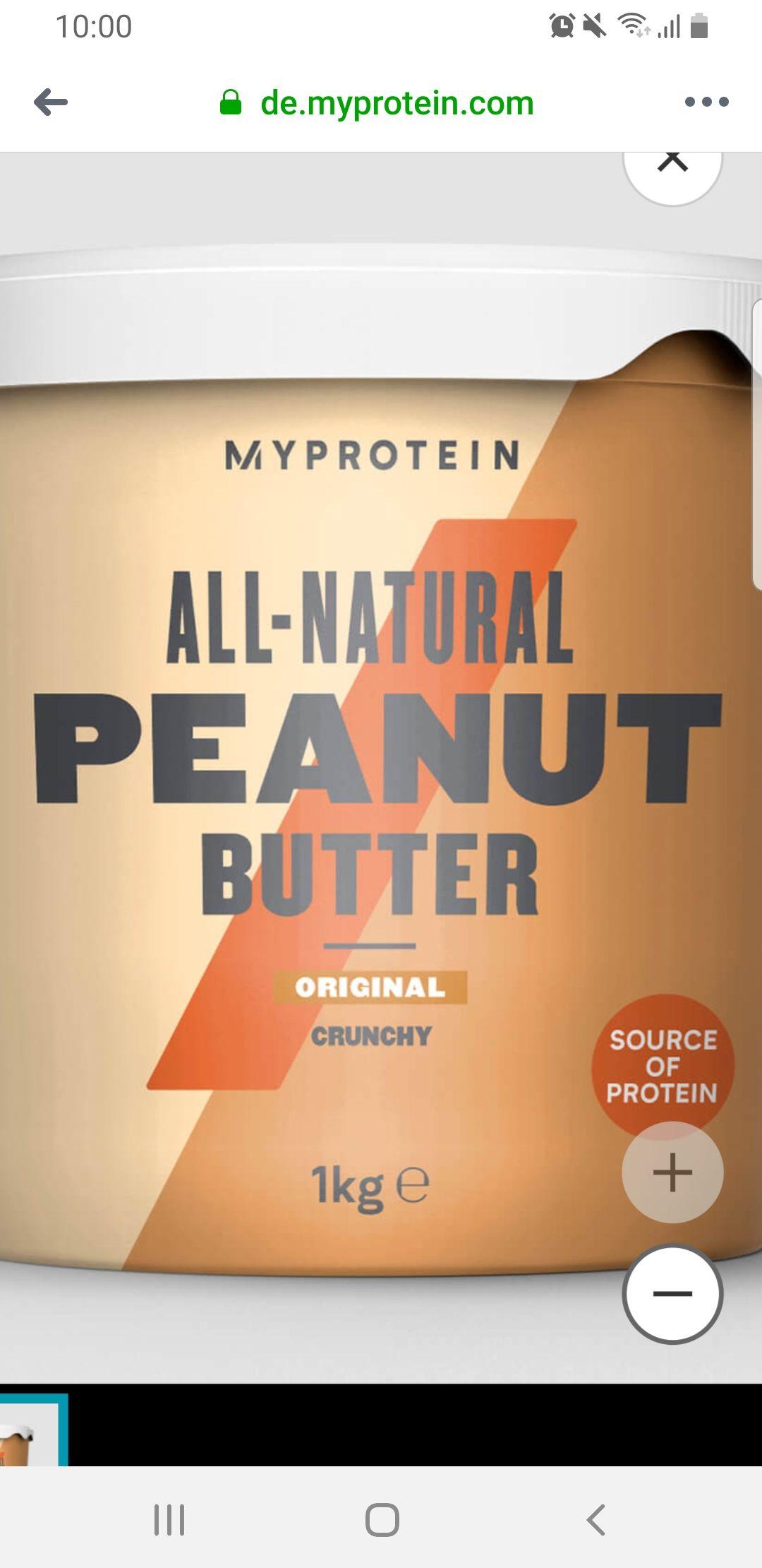 Myprotein SALE z. B. Erdnussbutter 1kg VSK frei