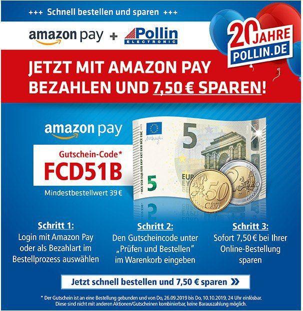 7,50€ Rabatt bei Pollin (MBW 39€)