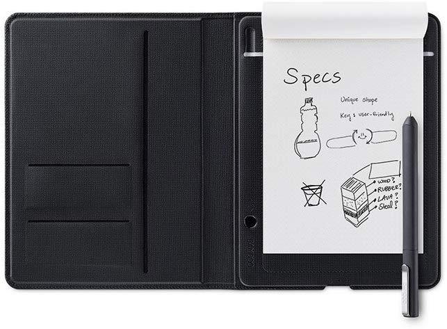 Smartpad Wacom Bamboo Folio A5 (140×216mm aktive Fläche, 1024 Druckstufen, Bluetooth, App, für normale Notizblöcke geeignet)
