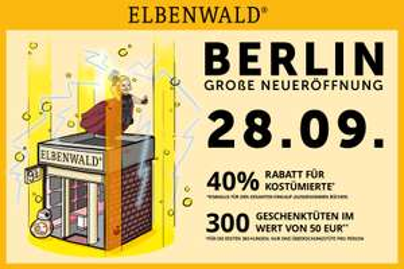 Lokal Berlin Elbenwald 40% Rabatt für Kostümierte 28.9