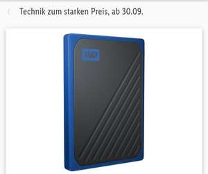 Western Digital Tragbarer SSD-Speicher 500 GB My Passport G