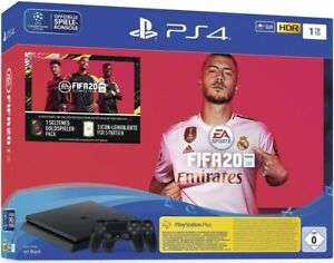 Sony PlayStation 4 (PS4) Slim 1TB + FIFA 20 Ultimate Team + 2 Controller [Computeruniverse & Amazon]